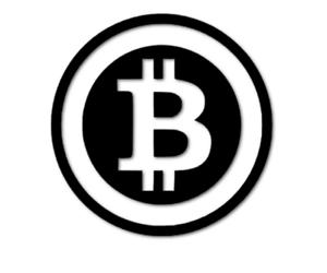 Bitcoin Aufkleber 7cm Design ähnlich Autoaufkleber Schaufenster decal 24 #8018