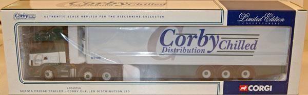 Corgi moderne schwer cc12216 scania im kühlschrank corby gekühlt 1   50 - skala