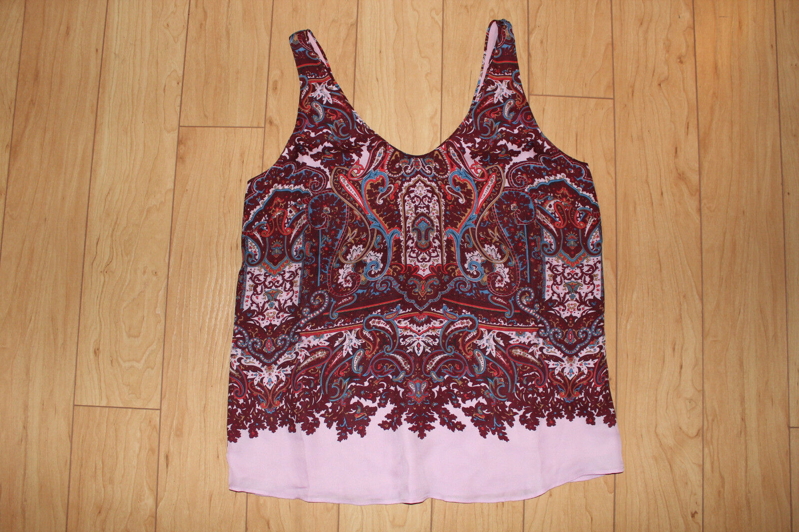J.Crew Silk Cate Cami Tank Top in Iced Lilac Paisley Größe 8, 10 NWT