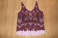 J.crew Silk Cate Cami Tank Top In Iced Lilac Paisley Size 8, 10