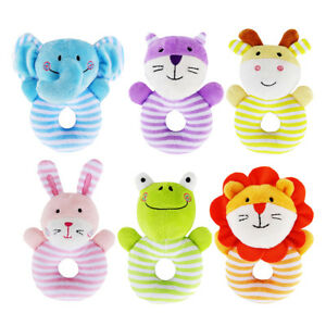 Kids Baby Animal Handbells Musical Developmental Bed Bells Soft Rattle Toys UK