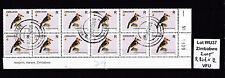 Zimbabwe 2005 Birds R-value in Block of 12 (sheet number), VFU (WU37)