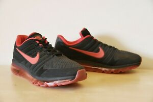 Nike Air Max men's shoes, red and black, 2017, size US 11
