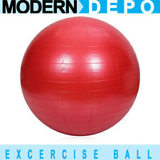 65cm 26 Inch Red Yoga Ball Exercise Fitness Pilates Balance Gymnastic Strength