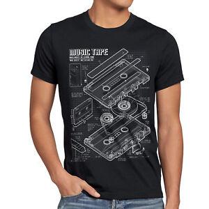 TAPE-T-Shirt-Herren-Kassette-disko-MC-DJ-retro-musik-turntable-ndw-analog-disco