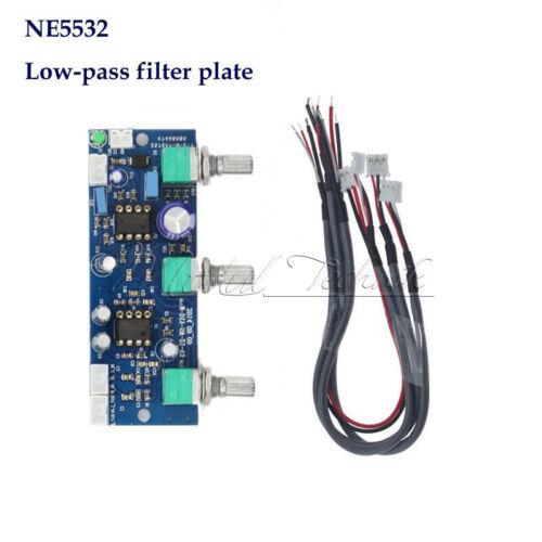 DC 12V-24V Low-pass Filter NE5532 Subwoofer 2.1CH Pre-Amplifier Preamp Board New