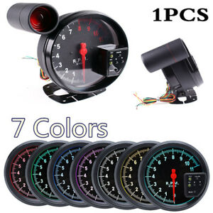 12 V 5 Inch Motorcycle Tachometer 7 Color LED Shift Lighting Better Vision at Night Programmable Mode Setting Compatible with 4//6 8 Cylinder Engine Vehicles 0-11000 rpm