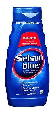 Selsun Blue Medicated w/Menthol Dandruff Shampoo 11oz