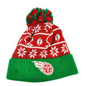 12a110c0f230c NFL New Era Sweater Chill Tennessee Titans Pom Pom Cuffed Knit ...