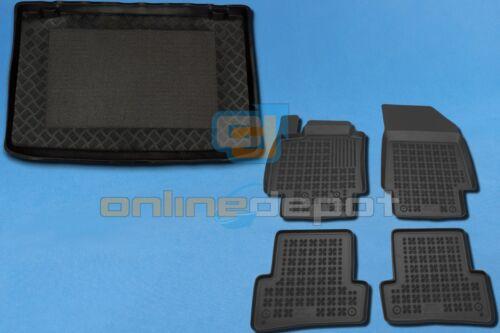 Gummi-Fußmatten+Kofferraumwanne RENAULT CLIO 3 III 2005-2012