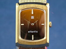 Vintage Retro Atlantic Swiss Mechanical gents Dress Watch NOS 1970s Old Stock
