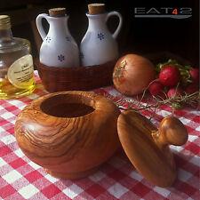 Zuckerdose aus Olivenholz Holz Dose Döschen Töpfchen ca.12cm