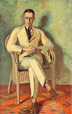 Dynamisch Bildnis Hauptmann H. Gustav Essig Kunstdruck Von 1924 Modern Und Elegant In Mode