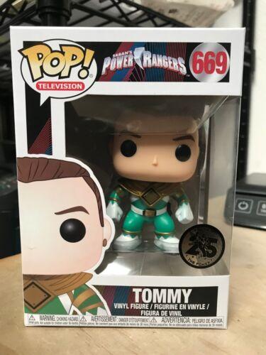 FUNKO POP TOMMY GREEN RANGER #669 POWER RANGERS VINYL FIGURE AUTHENTIC IN HAND