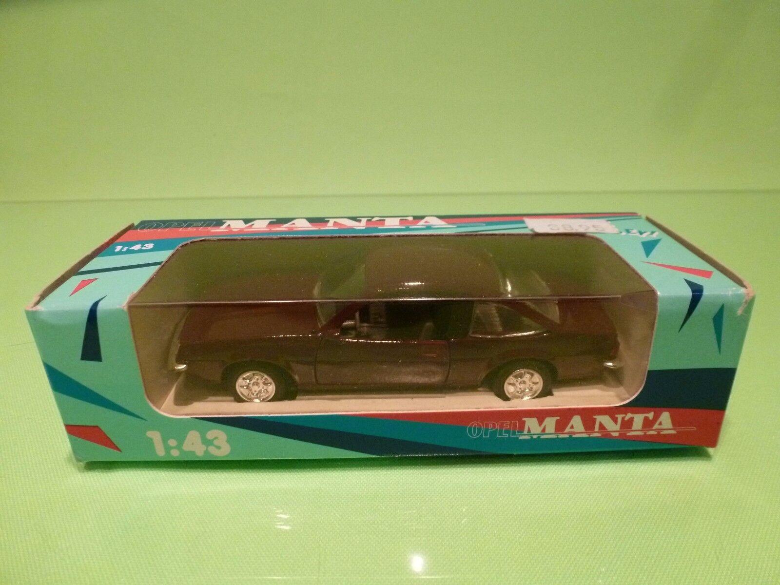 PRALINE METAL - OPEL MANTA B - rojo marrón 1 43 - GOOD CONDITION IN BOX