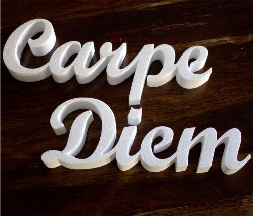 100 cm de largo 50mm fuerte poliestireno finamente decoración letras Carpe diem aprovecha el día