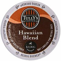 Tully's Coffee Hawaiian Blend 48 K-cups, New, Free Shipping