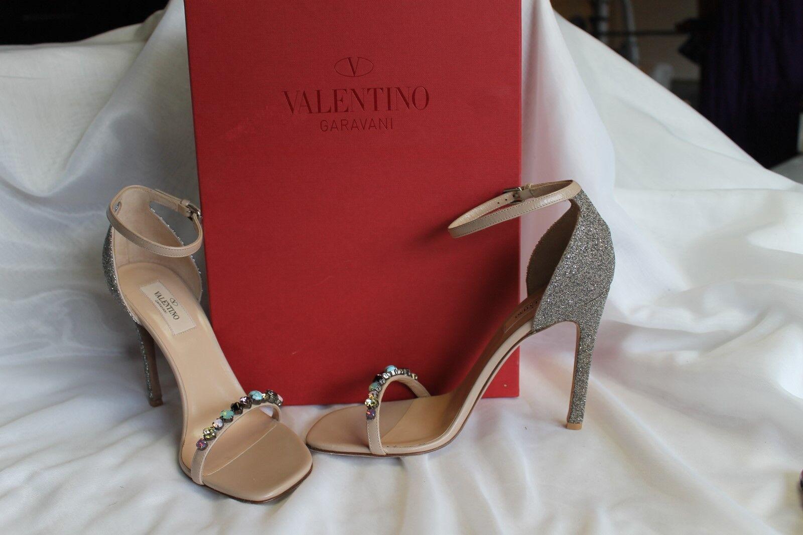 Valentino Emellited  Glitter Nudo Sandal NIB Dimensione 38  outlet