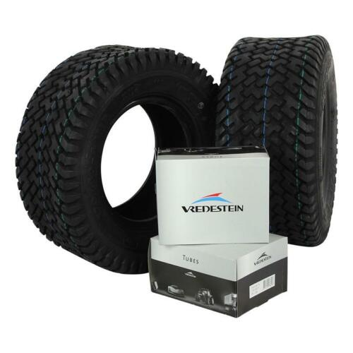 2x 170//60-8 4PR Vredestein Noppe V71 Reifen mit Schlauch 16x6.50-8
