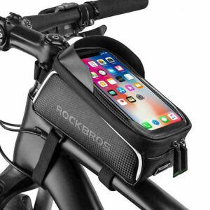 ROCKBROS Fahrradtasche Wasserdicht Rahmentasche Oberrohrtasche 6,0 Handyhalter