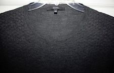 Mens GUCCI Gray 100% Wool Pullover Sweater Size XXL