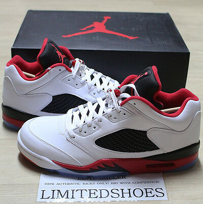 official supplier various design hot products NIKE AIR JORDAN V 5 RETRO LOW FIRE RED WHITE BLACK 819171-101 ...