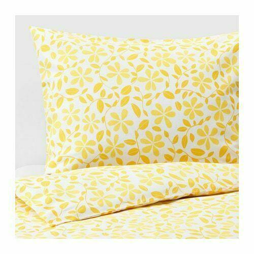 W//Pillowcase Bed set Yellow NEW IKEA Akertistel  Twin Duvet Cover