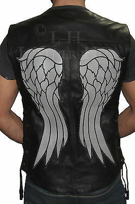 The walking dead gouverneur-daryl dixon ailes d/'ange cuir gilet veste