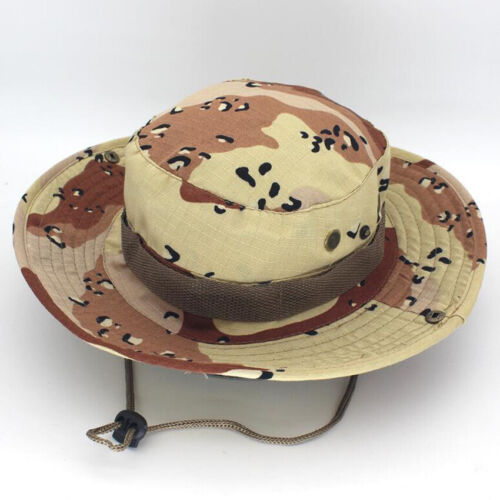 Bucket Hat CACHOU Chasse Pêche Extérieur Large Bord Safari Camouflage Sun Cap