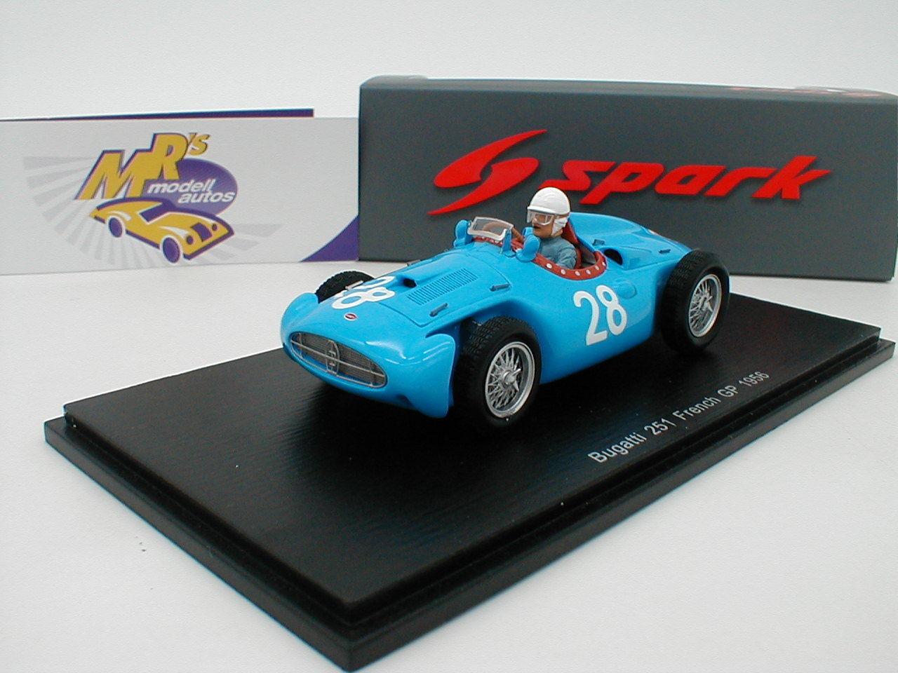 SPARK s5280   BUGATTI 251 No. 28 French GP 1956  M. TRINTIGNANT  1 43 NEUF