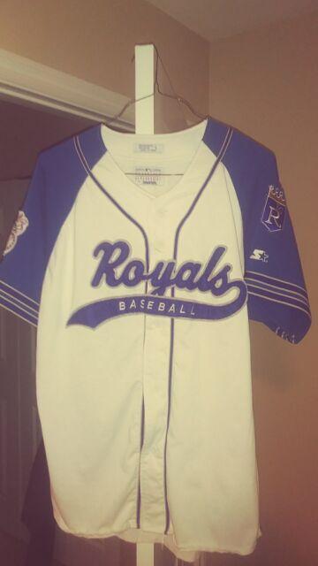 2253fd73f16 Kansas City Royals Throwback Baseball Script Starter Jersey Large! Rare