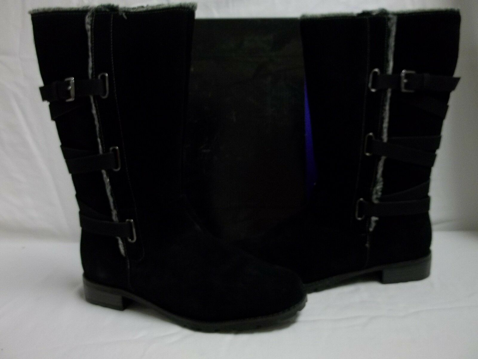 Isotoner Size 6.5 M Mischa Black Leather Knee High Boots Boots Boots New Womens shoes 96f6a4