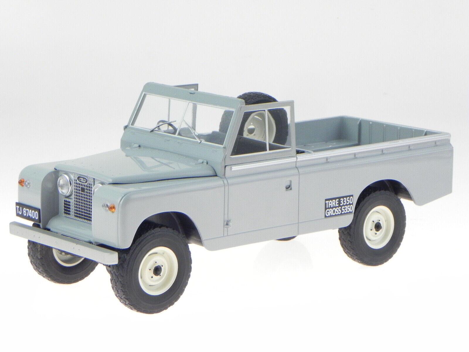 Land Rover 109 serie II Plocka upp 1959 grå diecast modelll 18092 MCG 1 18
