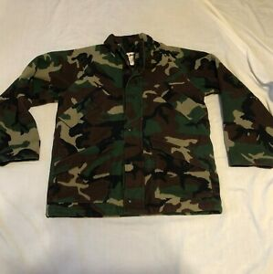 LL Bean Goretex Thinsulate Camo Hunting Jacket Coat Mens Size Large Regular