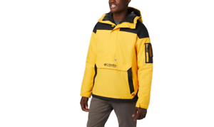 RRP-120-00-Columbia-Men-039-s-Challenger-Pullover-Jacket-Yellow-Size-S