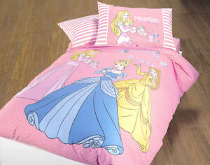 Copripiumino Principesse.Set Copripiumino Principesse Royal Rosa Cenerentola Belle Aurora