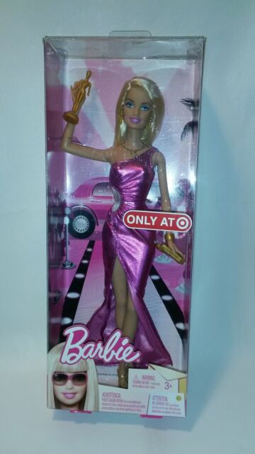 NEW BARBIE AWARD SHOW DOLL T2045 TARGET EXCLUSIVE FUCHSIA GOWN MATTEL