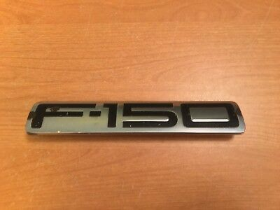 1x OEM  F-150  Emblems Badge New Custom 04-08 Matte Black For Ford Rear Tailgate