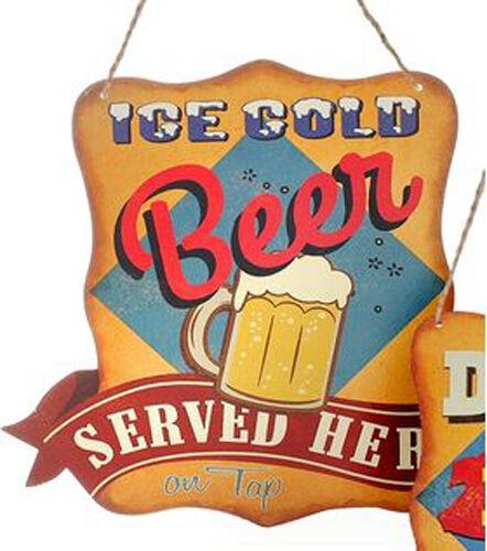 DIO Vintage Metall Schild - Ice Cold Beer - 28x27cm - nostalgie blechschild