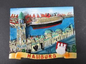 Magnet-Hamburg-Hafen-Landungsbruecken-Poly-Relief-7-cm-Germany-Souvenir-NEU