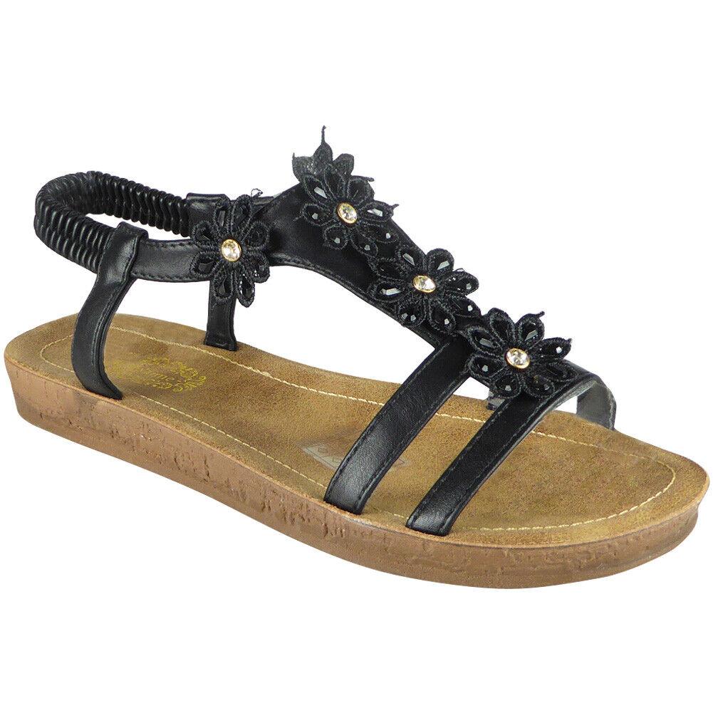 Women Comfy Peep Toe Flat shoes Sandal Shoes  Flops Slippers Shoes Size UK