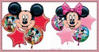 Mickey And Minnie Mouse Birthday Balloons Bouquet Decoration Party Supplies