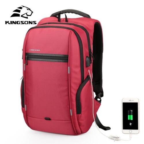 Kingsons Laptop Backpack External USB Charge Computer Backpacks Waterproof Bags