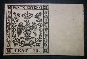 Modena-1852-10-cent-con-punto-nuovo-con-gomma-MNH