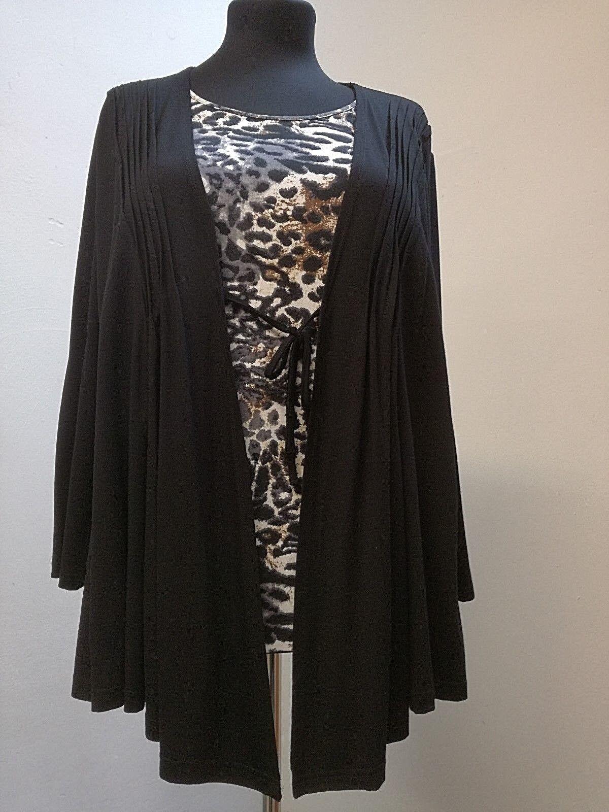 Shirt-two in one-Druckeinsatz-Damen HEGLER Mode, Bindeband, locker fallend