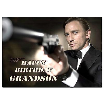 Daniel craig james bond 007 carte d/'anniversaire personnalisé A5