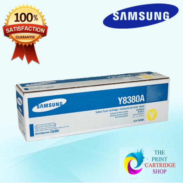 New & Original Samsung CLX-Y8380A Yellow Toner Cartridge CLX8380 15K Pages