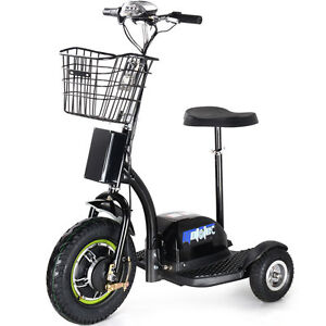 Image Is Loading Electric Mobility 500w Scooter Mototec 3 Wheel Trike
