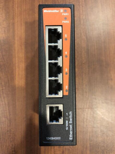 Weidmuller IE-SW-BL05-5TX Five Port Industrial Ethernet Switch