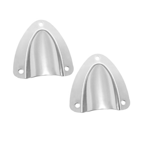 2 Pieces Clam Shell Vent Boat Marine 304 Stainless Steel